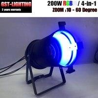 200 w COB Led Zoom Par Cans 3200 k Warm White Luzes DJ para
