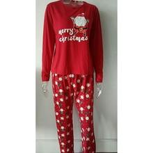 Family Matching Merry Christmas Pajamas Sleepwear Outfits