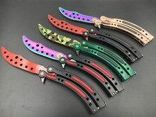 Nueva garra Counter Strike CS IR cuchillo Karambit Cuchillo de caza Cuchillo plegable de la mariposa del arco iris juego de cuchillo cuchilla sin ningún borde herramienta