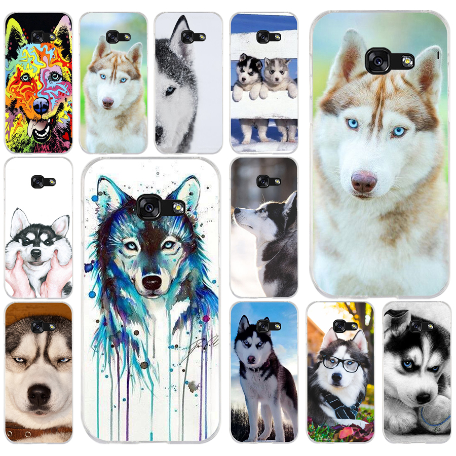 196AQ lovely <font><b>Siberian</b></font> <font><b>Husky</b></font> (2) Soft Silicone Tpu Cover phone Case for Samsung galaxy a3 a5 2016 2017 a6 A8 2018 image