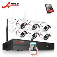ANRAN P2P 1080P WIFI 8CH NVR Kit Security System 6PCS 2 0MP Outdoor 36 IR Network