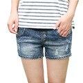 Оптовая продажа летом деним беременным опоры живот шорты эластичные узкие свободного покроя беременность