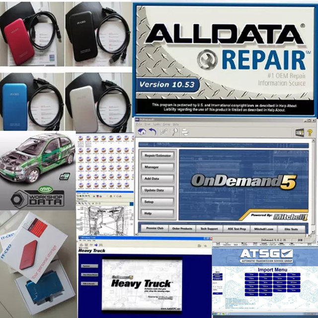 2017 alldata auto repair software Alldata 10.53 + Mitchell ondemand ...