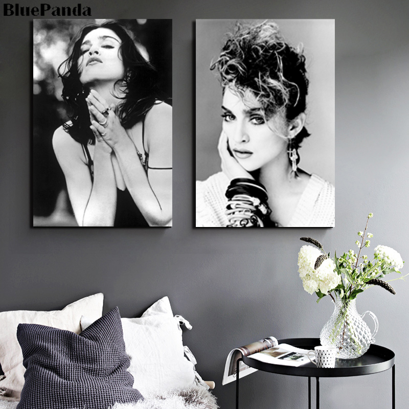 Madonna Portrait Actor Singer Modern Poster Oil Painting Canvas Wall Art Pictures For Living Room Home Decor image