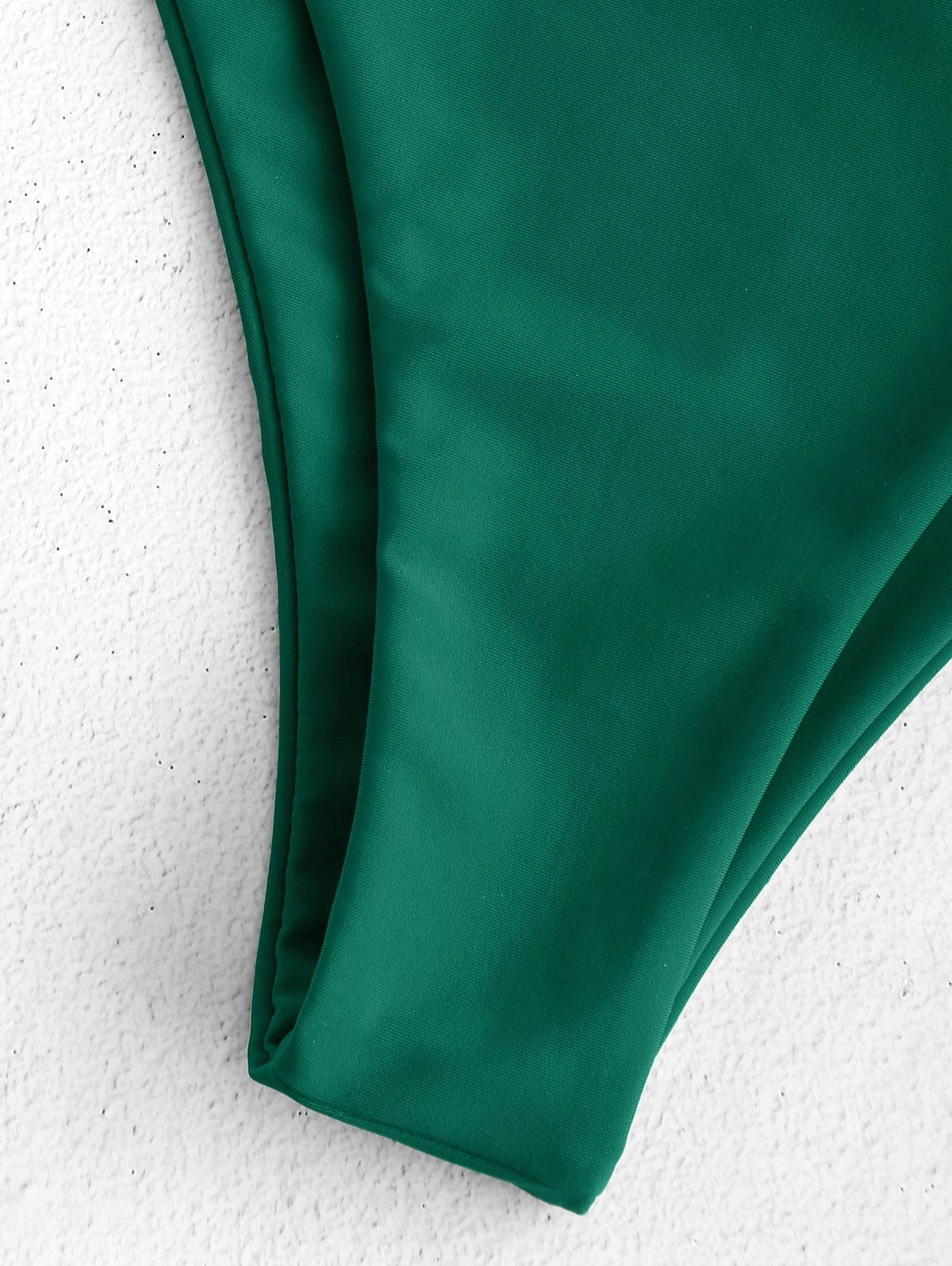 Frilled Smocked Bandeau Bikini 14