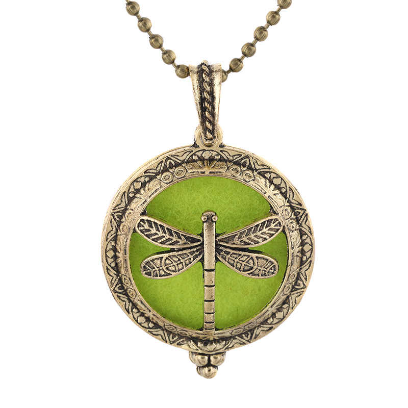 2019 New Aromatherapy Jewelry Dragonfly Magnetic Necklace Vintage Open Lockets Pendants Perfume Essential Oil Diffuser Necklace