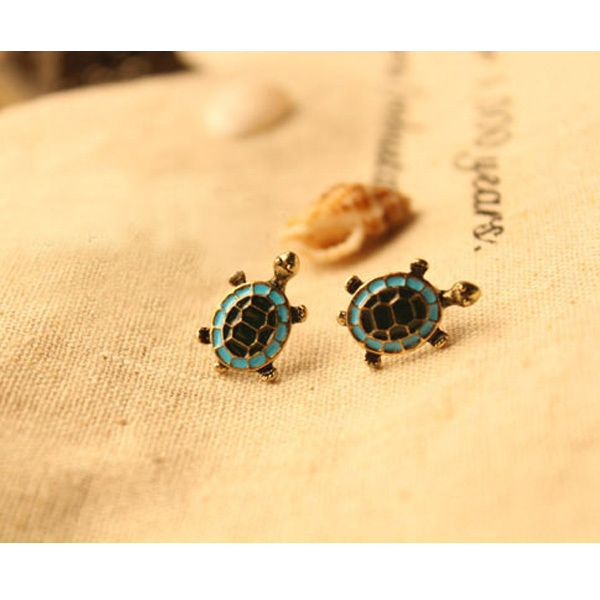 Colorful Turtle Shaped Earrings
