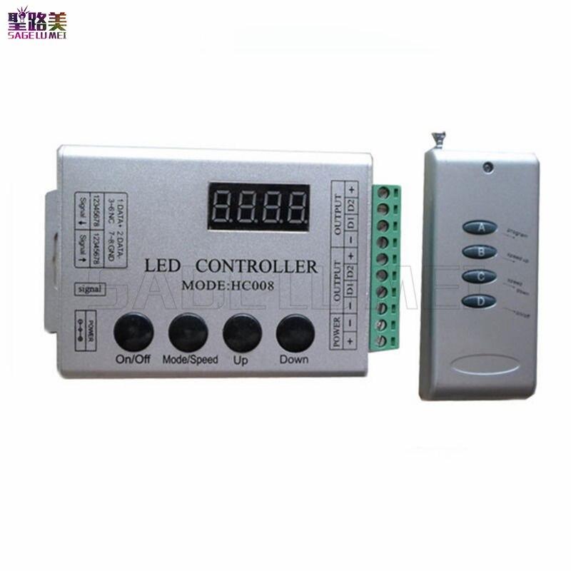 DC 5 V 12 V 24 V 4 Schlüssel HC008 programmierbare rgb led pixel controller 133 wirkung modi für ws2812 ws2811 2801 Led-streifen Band