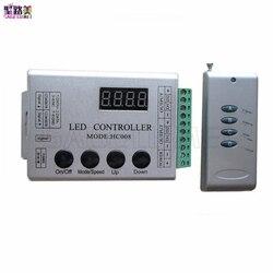 DC 5V 12V 24V 4Keys HC008 programmable rgb led pixel controller 133 effect modes for ws2812 ws2811 2801 LED Strip Light Tape