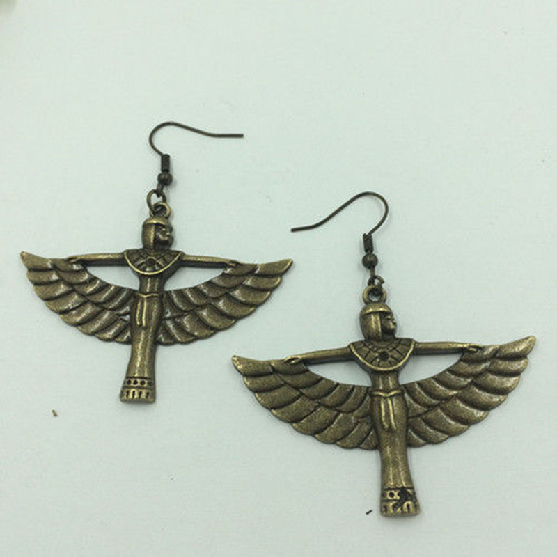 Egyptian Queen Charm Earrings, Ancient Silvet Fashionable Earrings, Tribal Jewelry, Gifts for her, Boho Earrings