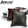 1 piece Fashion lumbar support cushion for sofa / focus 2 cojin para lumbares Woven leather almofada decorative cushion cover