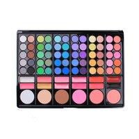 Nowy 78 Kolorów Eyeshadow Nautral Kosmetyki Mineralne Tworzą Profesjonalne Shimmer Eye Shadow Makijaż Pigmentu Paleta Zestaw Lustro