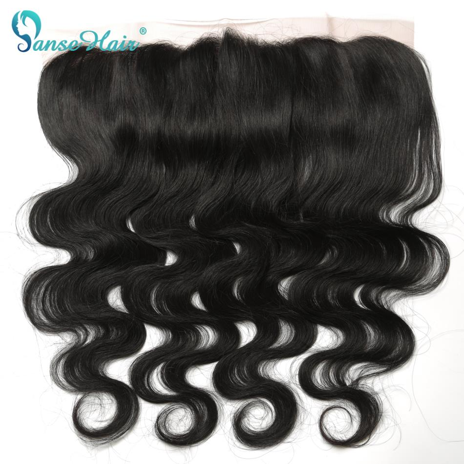 Brazilian Body Wave 13 x 4 Lace Frontal Ear to Ear Human Hair Lace Closure Natural Color Non Remy Hair Panse Hair