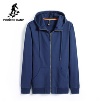Pioneer Camp New Autumn Hoodies Men Brand Clothing Casual Solid Hooded Sweatshirt Male Top Quality Black