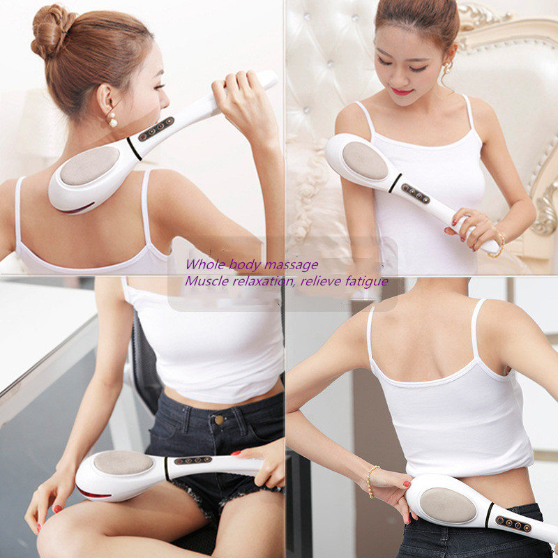 Electric hand held massager machine body neck cervical back muscle relaxation vibration deep tissue massage health care