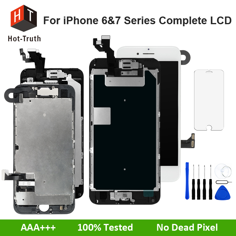 Hot-Truth Complete LCD For iPhone 7 7 Plus 6 Plus 6S 6S Plus Touch Screen Digitizer Display AAA+++ For iPhone LCD Full Assembly