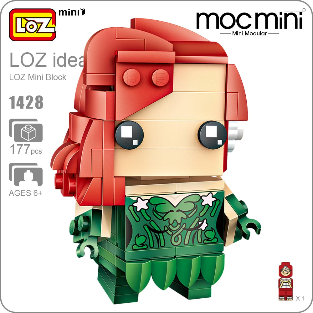 LOZ Mini Blocks Action Figure Super Hero Girls Doll Building Blocks POP DIY Toy Cute Bricks Kids Assembly Toys Figurine DIY 1428 building blocks agent uma thurman peeta dc marvel super hero star wars action bricks dolls kids diy toys hobbies kl069 figures