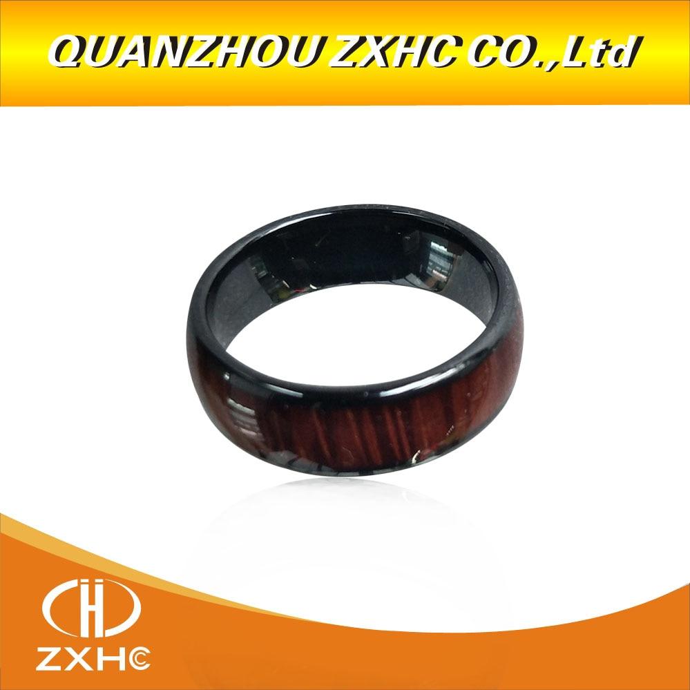 125KHZ/13,56 MHZ T5577 oder UID chip RFID Holz farbe Keramik Smart Finger Ring Tragen für Männer oder frauen