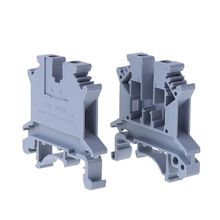 BGEKTOTH 50PCS UK-2.5B 32A/800V DIN Rail Universal Terminal Blocks Screw Type Connector 1AA300347 50pcs bta12 800b bta12 800 to 220 12a 800v