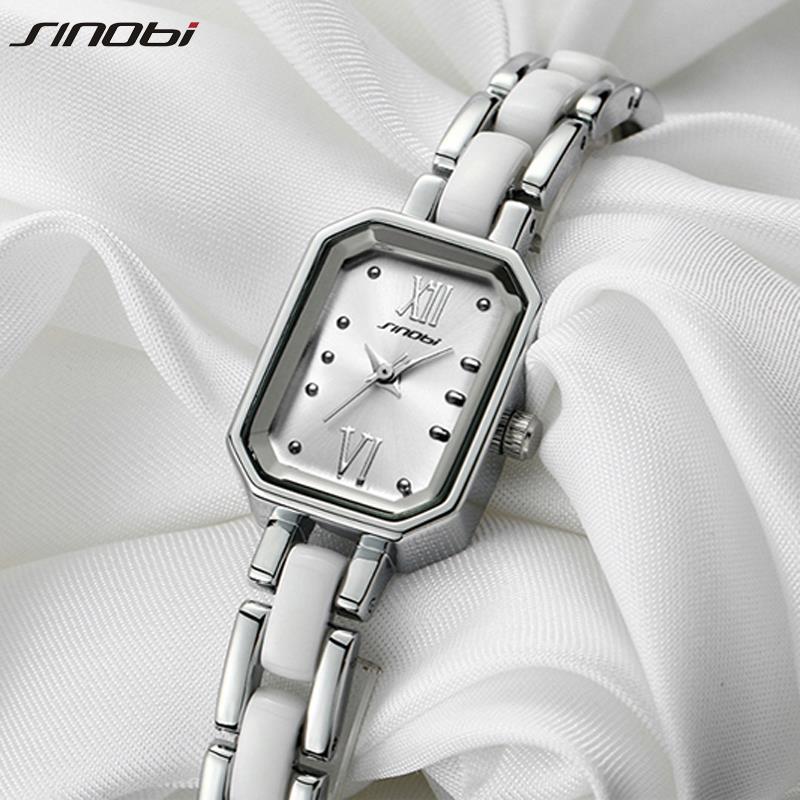 SINOBI Women s Bracelet Watches for Ladies Fashion Brands Quartz Watches Best Gift relogio feminino