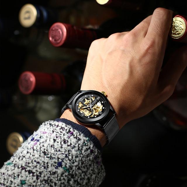 Skeleton Watch 2020 New FNGEEN Sport Mechanical Watch Luxury Watch Mens Watches Top Brand Montre Homme Clock Men Automatic Watch 2