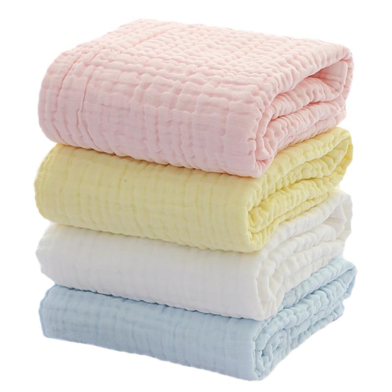 طفل بطانية الشاش القطن أربع طبقات رشاقته الوليد قماط الشتاء الطفل التقميط النوم البطانيات تكييف