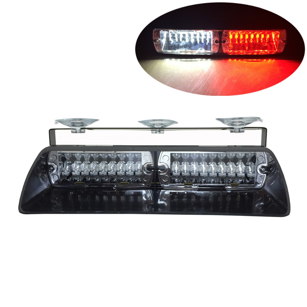 48W Windshield LED Strobe Light S2 Viper Car Flash Signal Emergency light Fireman Police Beacon led Warning Lights DC12V strobe light flash emergency light windshield light s2 led emgergency strobe police flash light
