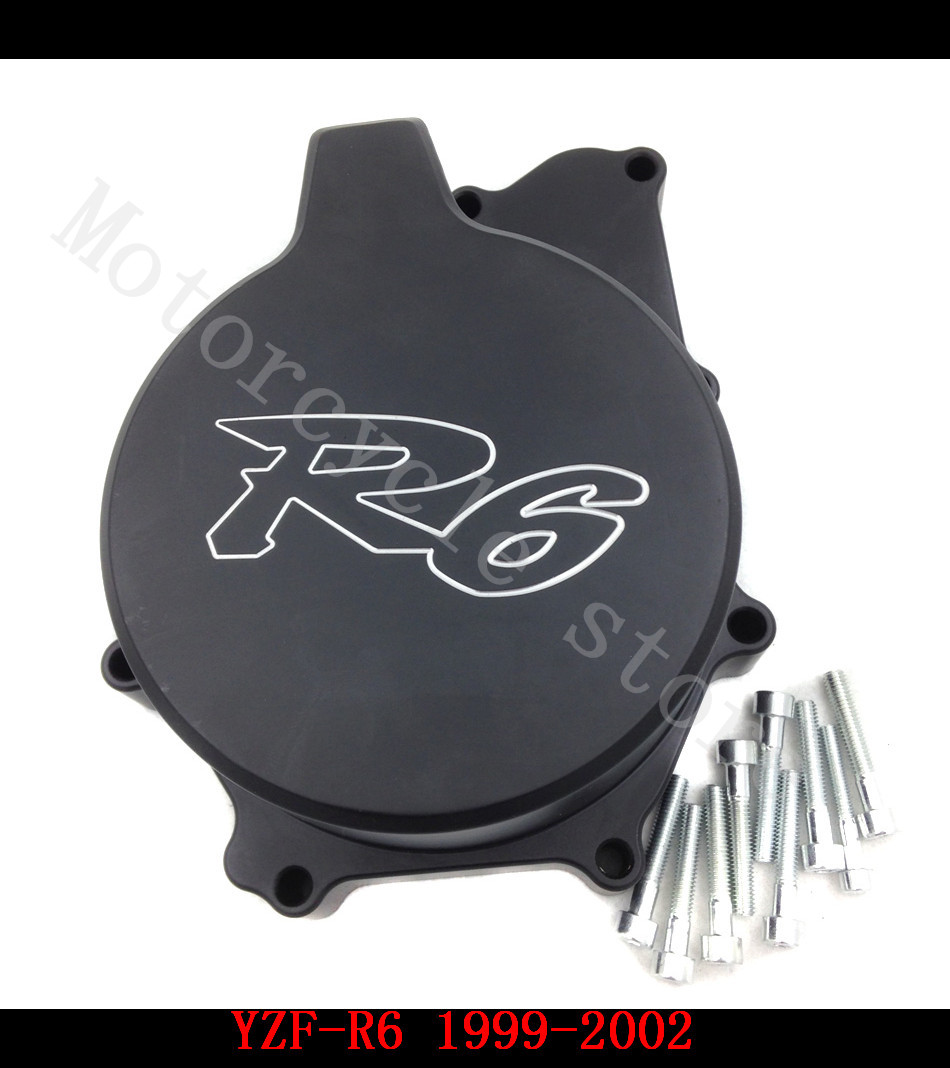 Fit for Yamaha YZFR6 YZF-R6 1999 2000 2001 2002 Motorcycle Engine Stator cover Black left side fit for yamaha yzf 600 r6 1998 1999 2000 2001 2002 yzf600r abs plastic motorcycle fairing kit bodywork yzfr6 98 02 yzf 600r cb20
