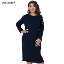 bc3454c2b6 5XL 6XL 2019 zima duży rozmiar kobiety sukienka wiosna z długim rękawem duży  Plus rozmiar sukienka
