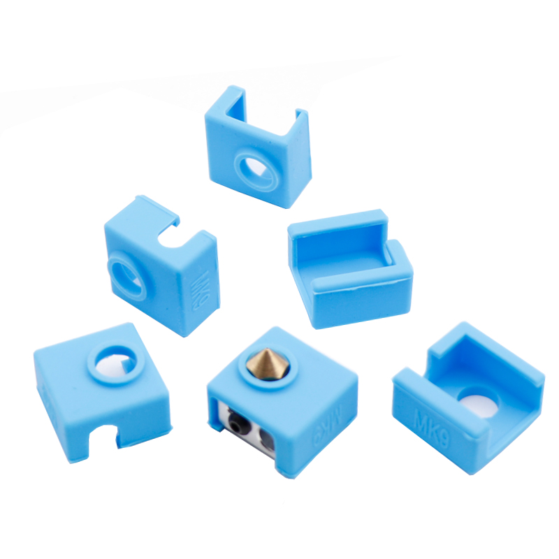 Heater Block Silicone Insulation Sock M6 Nozzles For MK8 MK7 MK9 Hotend A6 A8 E10 E12 Ender-3 CR-10 Prusa I3 3D Printer Parts