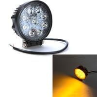 2PCS 4Inch 27W Amber LED Work Light IP67 Spot Fog Light Off Road ATV Tractor Train