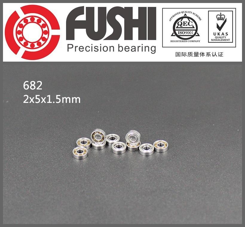 682ZZ ABEC-1 (10PCS)  2x5x2.3mm RCS Model  CS682 Miniature Ball Bearings 618/2ZZ gcr15 6326 zz or 6326 2rs 130x280x58mm high precision deep groove ball bearings abec 1 p0