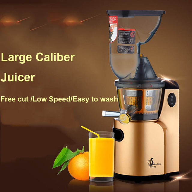 68RPM Household Low Speed Juicer Multifunction Large Caliber Slowly Electric Juice Machine Juice Extractor Free shipping