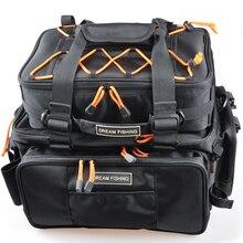 Massive Capability Fishing Bag 2Pcs Primary Bag:48*29*22 Multi Function Fishing Rod Bag Bolsa De Pesca Ice Fishing Deal with Bag Mochila