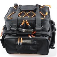 Large Capacity Fishing Bag 2Pcs Main Bag:48*29*22 Multi Purpose Fishing Rod Bag Bolsa De Pesca Ice Fishing Tackle Bag Mochila