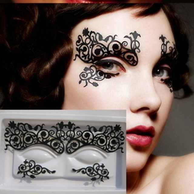 2017 New 1 Pair Eye Sticker Diy Flower Temporary Eye Tattoo Eyeliner