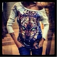 Các 2017 của Phụ Nữ Joker Tu Một của Đạo Đức Kỹ Thuật Số In Ấn Tiger Và Leopard In 3 D T-Shirt