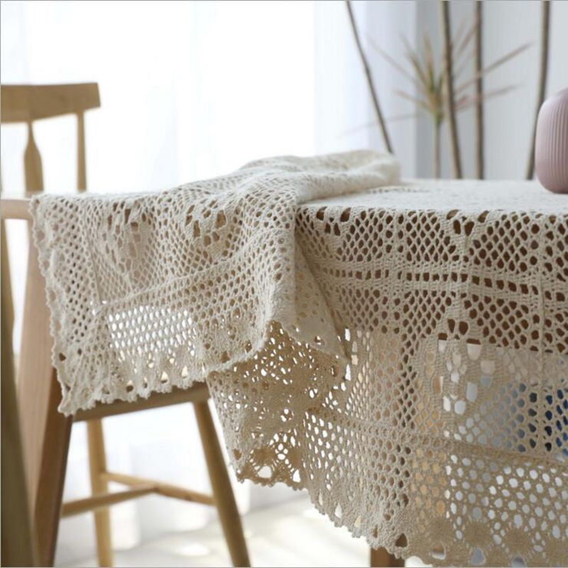 Pleasing Us 7 12 5 Off Beautiful Crochet Tapete Beige Off White Coffee Table Cloth Modern Hollow Out Tablecloth Rectangular Farmhouse Decor Cover In Evergreenethics Interior Chair Design Evergreenethicsorg