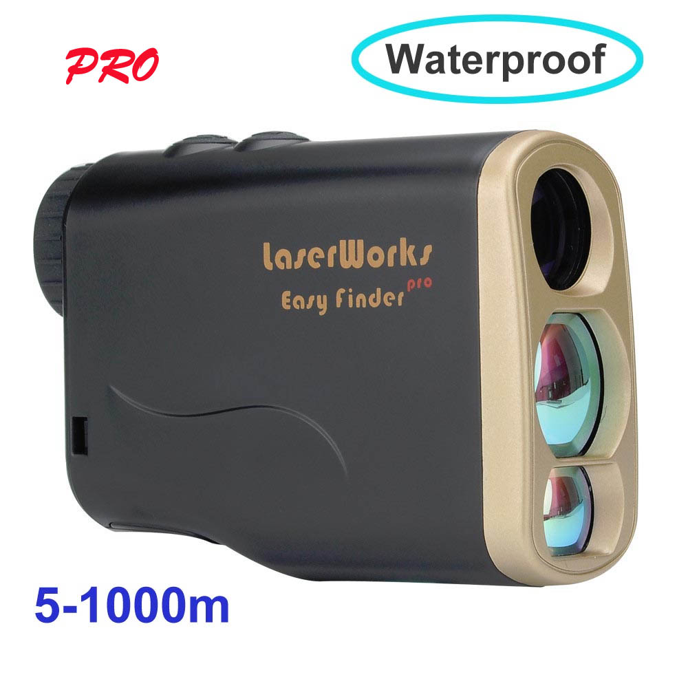 Brand New Laserworks 6x25 Ottica 1000 m Caccia Telescopio Golf Tester di Distanza di Misura Telemetro Laser Scope Facile Gamma finder