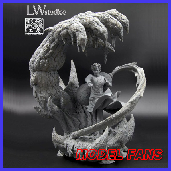 MODEL FANS  Naruto 40cm Gaara gk resin statue figure for collection