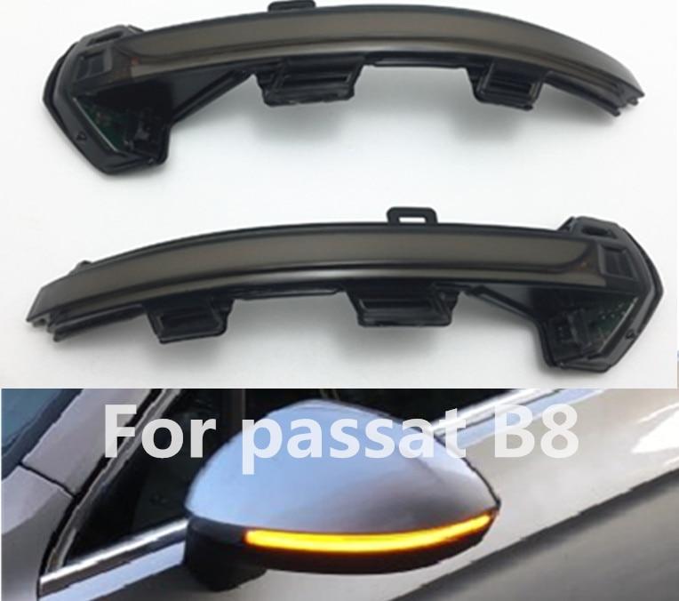 Kolossmeet for vw Passat B8 Dynamic Blinker LED Rearview side Mirror sequential turn signals light indicator