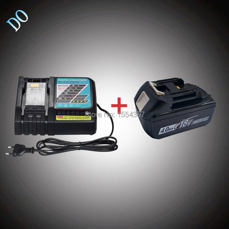 18V 4000mAh Rechargeable Lithium Ion BL1840 with Power Tool Battery Charger Replacement for Makita 18V BL1830 BL1850 BL1815 LXT набор bosch ножовка gsa 18v 32 0 601 6a8 102 адаптер gaa 18v 24
