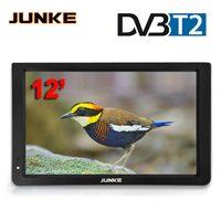 JUNKE 12 дюймов HD Портативный ТВ DVB-T2 цифровой и аналоговый мини, без рамки, с изображением маленькой машины телевидения Поддержка USB SD карты MP4 Mp5...