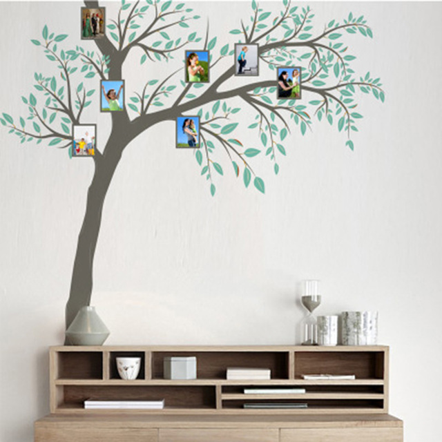 Extra Large Tree Picture Frame Wall Sticker Living Room Background Wall  Decals Decor Bedroom Dormitory Decoration Wall Mural Art-in Wall Stickers  from