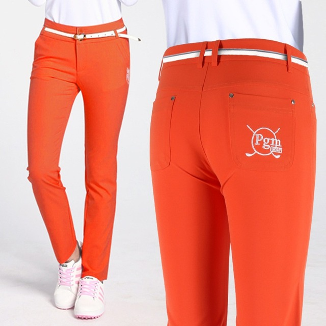 Женская одежда Для женщин брюки для гольфа XS-L брюки высота Эластичность спортивной одежды женский тонкий брюк Карандаш для гольфа, тенниса, плотные штаны