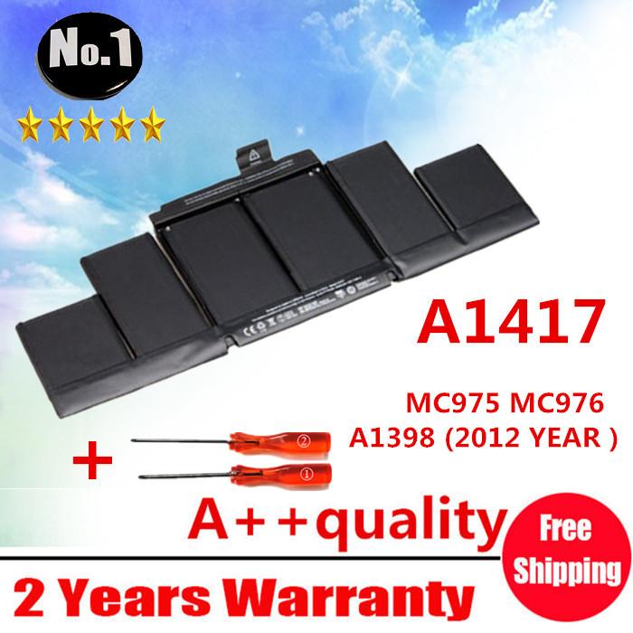Prix pour En gros NOUVELLE Batterie D'ordinateur Portable Pour Apple Macbook Pro 15 A1417 A1398 (2012 ANNÉE) MC975 MC976