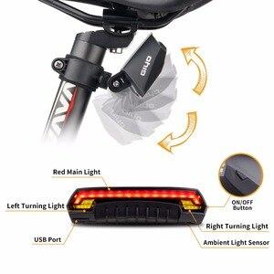Image 4 - Giyoバッテリーパック自転車ライトusb充電式マウント自転車ランプリアledターン信号サイクリングライトバイクランタン