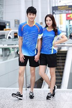 Summer Badminton sportswear suit for men and women table tennis training sports clothing