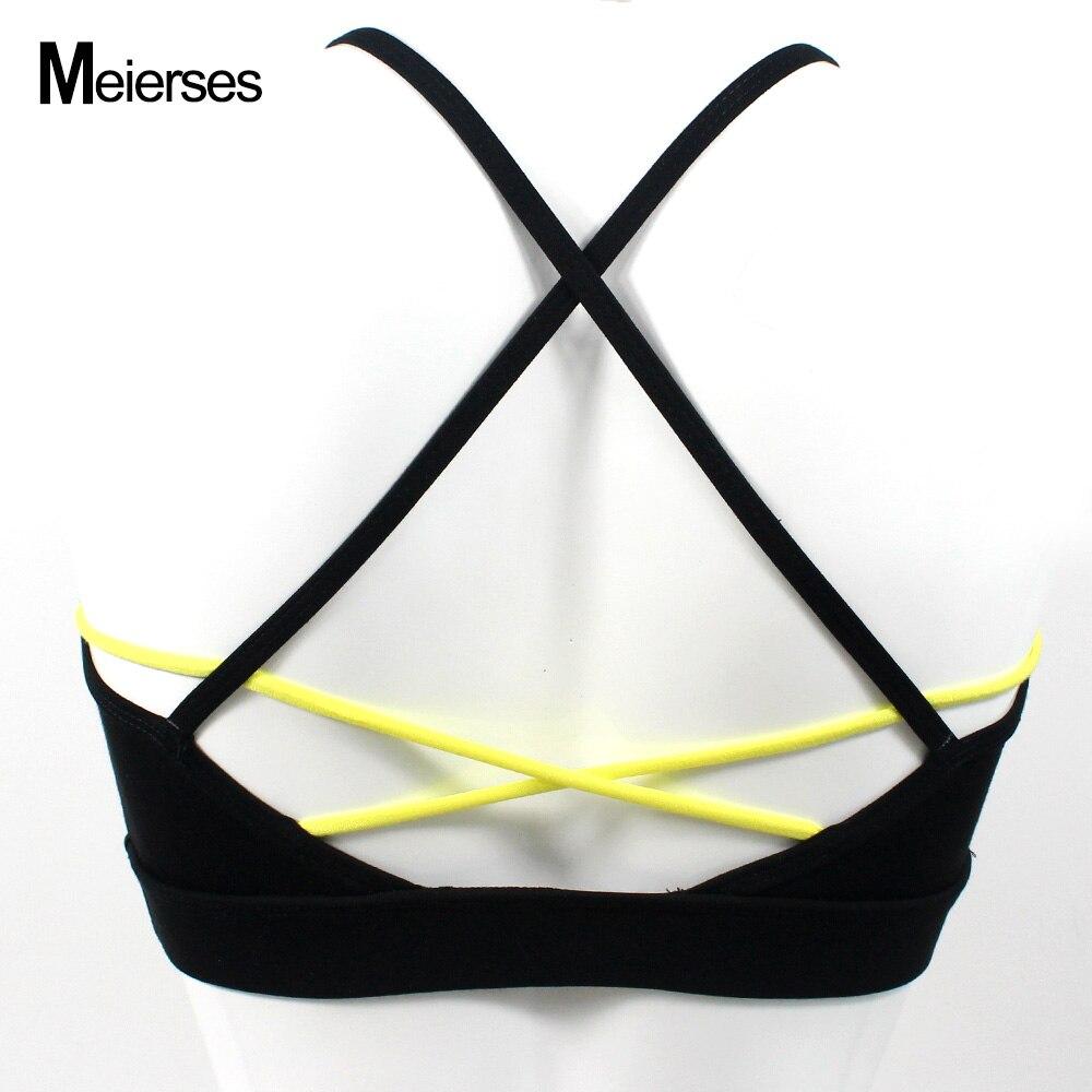 MEIERSES треугольный спортивный бюстгальтер сексуальный крест-накрест дизайн спортивная одежда бег мягкий бюстгальтер для тренировок женские удобные бесшовные кроп Топы