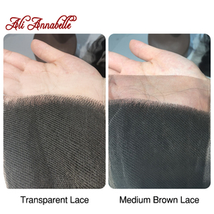 """Image 2 - ALI ANNABELLE HAIR Brazilian loose Wave Lace Closure Transparent Lace Medium Brown Remy Human Hair Closure Swiss Lace  10"""" 20"""""""